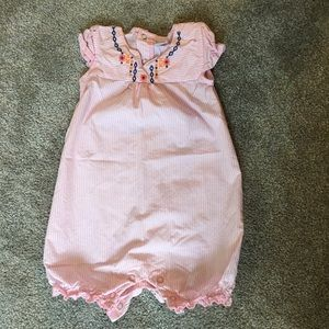 Girls pink Romper